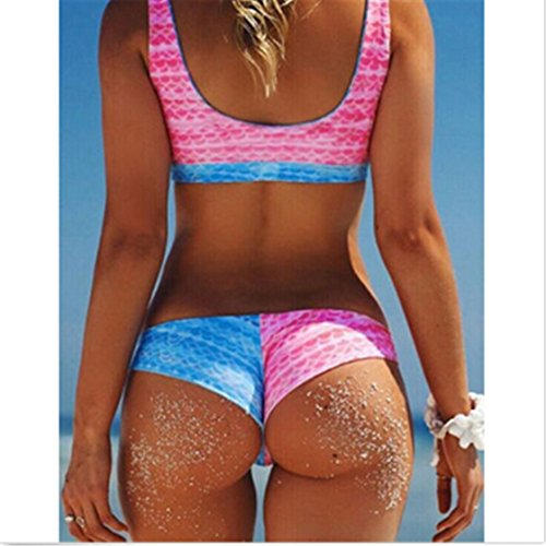 TraveT Rainbow Bikini Push Up Padded