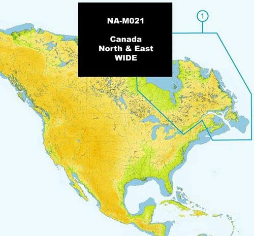 C-map Jeppesen Marine - JEPPESEN MARINE NA-M021 SD CARD C-MAP NA-M021 Max Wide SD Card Canada North And East