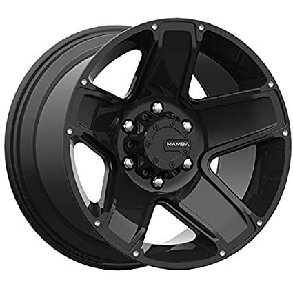 amazon com mamba 585b m13 18x9 5x127 6mm matte black wheel rim