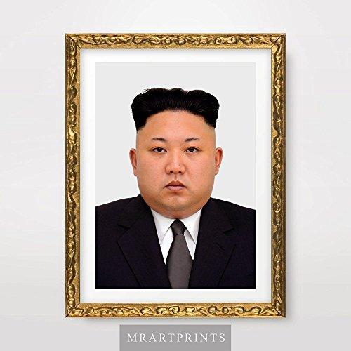 Kim Jong UN North Korea Portrait Art Print Poster Korean Leader Wall Picture A4 A3 A2 10 Size Options