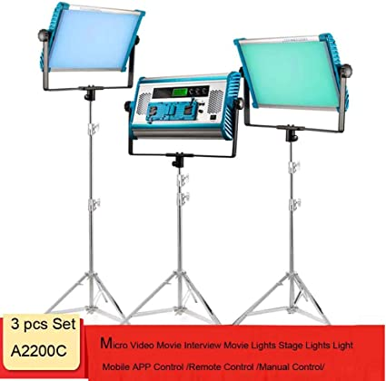 Video Shooting Light Stand for YouTube Studio Photography Yidoblo Dimmable RGBW 180W LED Video Light : 2800-9900K CRI 96+ LED Panel Remote,Smartphone APP A-2200C3