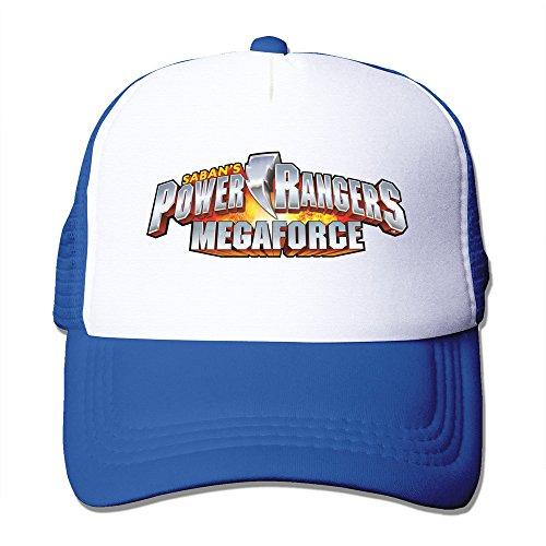 Power Rangers Mesh Fitted Trucker Baseball Cap RoyalBlue