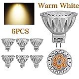 BAOMING MR16 LED Bulbs 7W GU5.3 12V 560lm 70W Halogen Spotlight Equivalent Warm White 2700K, 38 Degree Beam Angle Die-cast aluminum Pack of 6