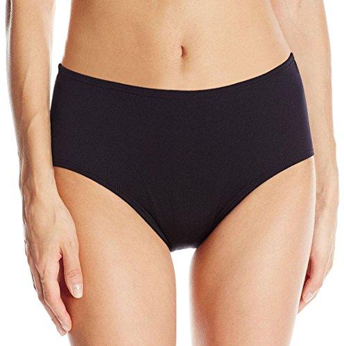 Ebuddy Women's High Waist Ramba Bikini Sport Solid Classic Bottom,Black 12