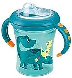 NUK 10255283 Easy Learning Starter Cup weiche Silikontrinktülle, auslaufsicher  für Kinder ab 6 Monaten, 200 ml, petrol