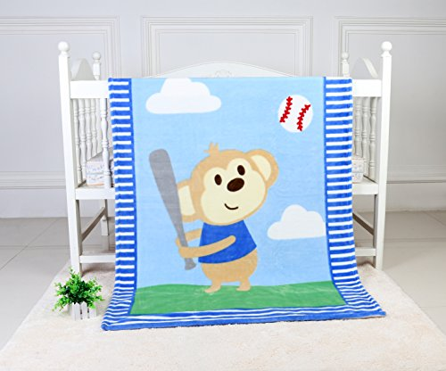 Soft Fleece Baby Blanket Toddler Blanket Perfect for Toddler Bed, Swaddling and Strolling. Cozy Warm Beautiful Print Pattern Throw Blanket Comes with Gift Box for Boys and Girls. 40