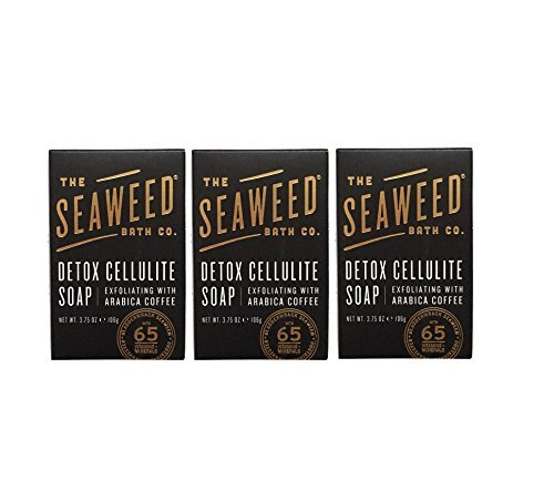 Seaweed Bath Co. Detox Cellulite Bar Soap (Pack of 3) with Coconut Oil, Kukui Oil, Bladderwrack Seaweed, Cinnamon Bark Powder and Charcoal Powder, 3.75 ounces Cinnamon Bark Powder