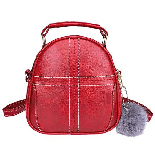 c864c78f2 Vehom Señora Tote Pelo Bola Rojo Color De Shopper,bolso Mujer,bandolera Diagonal  Hombro Moda Bolso Rd La bolsos Sólido ...