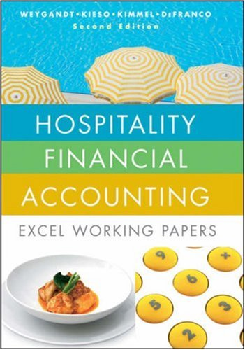 Hospitality Financial Accounting: Excel Working Papers (Financial Accounting Working Papers)
