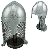 PAN001 Medieval Aventail Knights Chain Mail Helmet