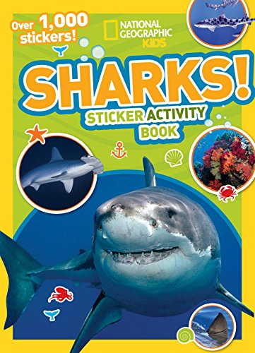 National Geographic Kids Sharks Sticker Activity Book: Over 1,000 Stickers! (NG Sticker Activity Books) ()