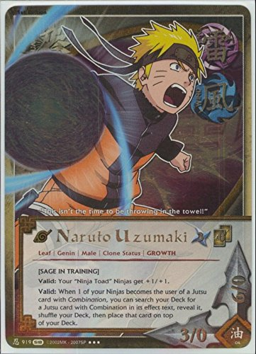 Naruto Card - Naruto Uzumaki [Sage In Training] 919 - Fangs of the Snake - Super Rare - Foil - 1st Edition