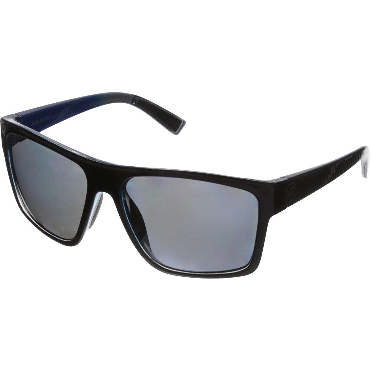 VonZipper Dipstick Polar Polarized Rectangular Sunglasses, Parko Black Stripe/Silver Polar, 60 mm