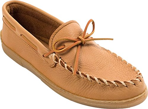 Minnetonka Men's Moosehide Classic Moccasin,Natural Moose,12 M - For Men Minnetonkas