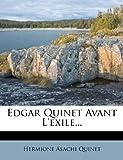 Edgar Quinet Avant L'Exile..., Hermione Asachi Quinet, 1274632897