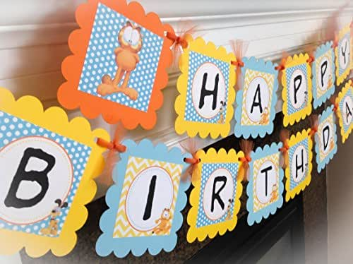 amazon com  garfield inspired happy birthday banner