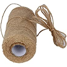 328 Feet Natural Jute Twine Best Arts Crafts Gift Hemp String Christmas Twine String Packing Materials Durable Jute Cord Twine for Gardening