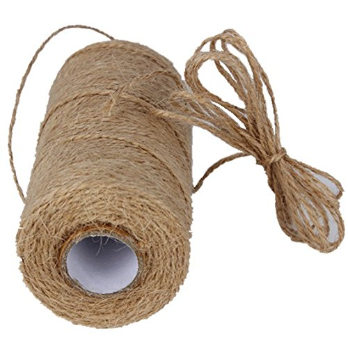 Price comparison product image 328 Feet Natural Jute Twine Best Arts Crafts Gift Hemp String Christmas Twine String Packing Materials Durable Jute Cord Twine for Gardening