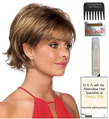 Sage (formerly Sarah) Wig by Revlon, 15 Page Christy's Wigs Q & A Booklet, 2oz Travel Size Wig Shampoo, Wig Cap & Wide Tooth Comb COLOR SELECTED: 33/30R TOMATO BISQUE