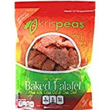 Krispeas High Protein Snack – Low Carb, Vegan & Gluten Free, Hot & Spicy, Green Split Pea Baked Falafel Chips (Pack of 2)