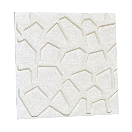 2Pcs PE Foam 3D Self-adhesive Wall Stickers Decor Tile Waterproof Wall Stickers