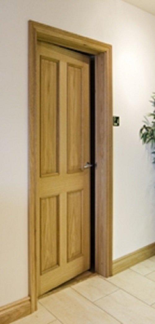 Solid Oak Door Casing Set (Single Door) Door Lining/Frame Incl Door ...