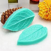 FVIEW TC3773 Silicone Leaf Shaped Mold Fondant Cake 3D Silicone Mold