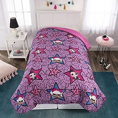 MGA LOL Surprise Kids Bedding Soft Microfiber Reversible Comforter, Twin/Full