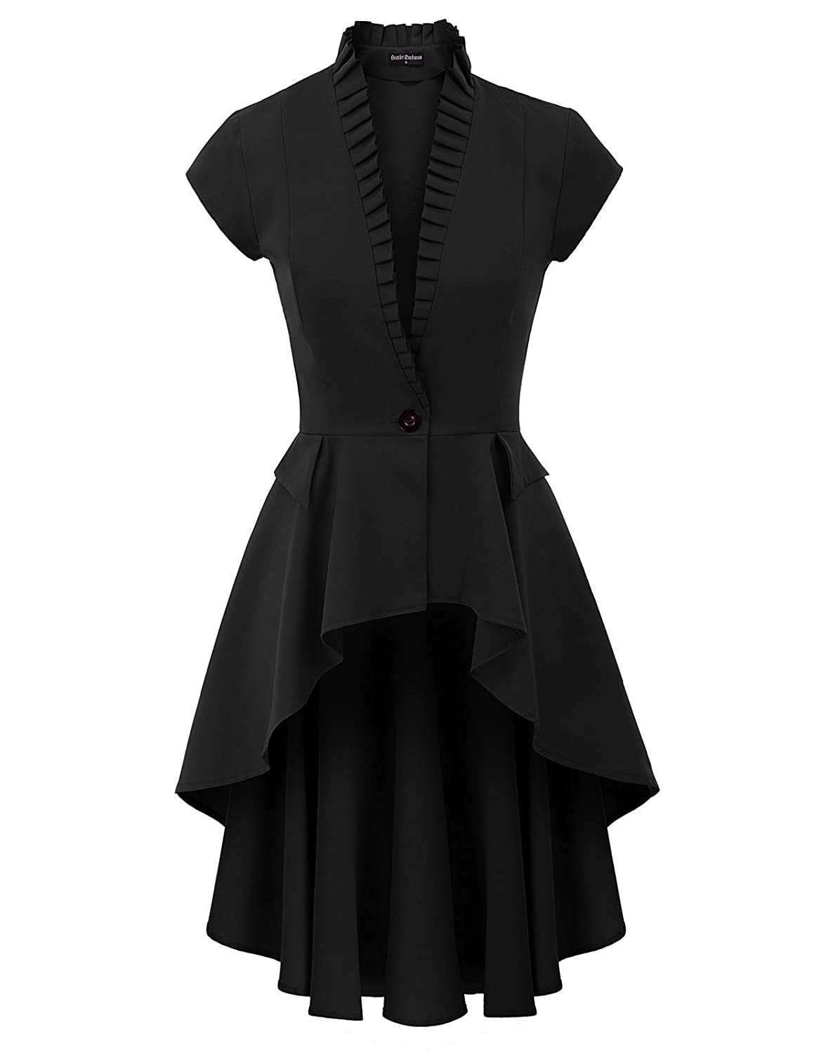 Victorian Clothing, Costumes & 1800s Fashion Womens Gothic Steampunk Jacket Long Victorian Waistcoat Jacket Top $37.99 AT vintagedancer.com