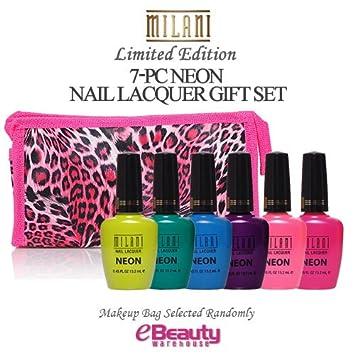 Amazon Com 7pc Gift Set Milani Nail Lacquer Neon Neon Nail