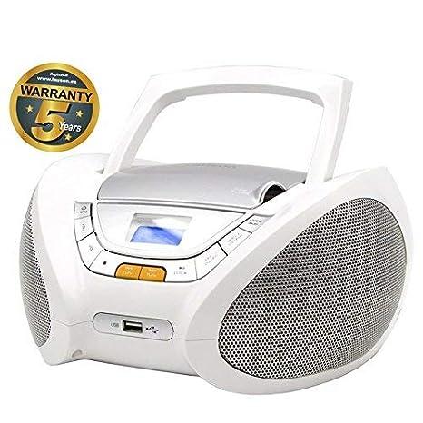 CD-Player | Tragbares Stereo Radio | Kinder Radio | Stereo Radio | Stereoanlage | USB | CD / MP3 Player | Radio | Kopfhöreran