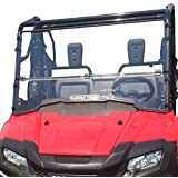 Clearly Tough Honda Pioneer 700 Windshield - Full Folding -Scratch Resistant- Ultimate Side by Side Versatility! Easy on and