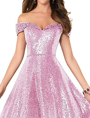 037b3e1dd5e Home Brands Falydal Dresses 2018 Off Shoulder Prom Dress Sequins Beaded  Long Evening Party Ball Gown.   