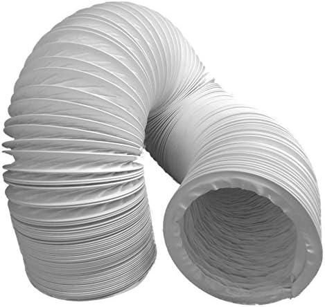 Tubo de salida de aire (PVC, diseño flexible, 100/102 mm de diámetro, 3 m de largo, compatible con instalaciones de aire acondicionado, secadoras o campanas extractoras): Amazon.es: Hogar