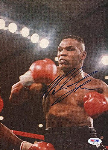 Mike Tyson Autographed Signed Magazine Page Photo Vintage Q65631 PSA/DNA Certified Autographed Boxing Magazines