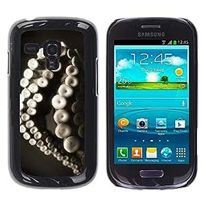 Be Good Phone Accessory // Dura Cáscara cubierta Protectora Caso Carcasa Funda de Protección para Samsung Galaxy S3 MINI NOT REGULAR! I8190 I8190N // Monster Octopus Sea Life Animals