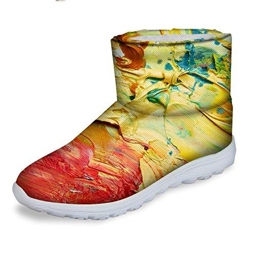 Voor U Ontwerpt Mode-vrouwen Warme Winter Snowboots Waterdichte Schoenen Enkellaarzen Geel