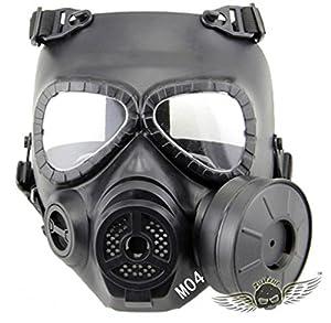 ZJZ Skull Style Gas Mask for Outdoor War Games Halloween Masquerade Masks D04Black