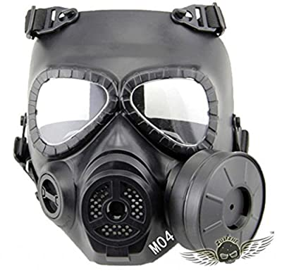 ZJZ Skull Style Gas Mask for Outdoor War Games Halloween Masquerade Masks D04Black