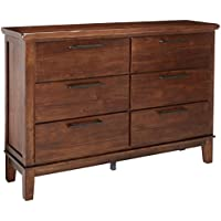 Ashley Furniture Signature Design - Ralene Six Drawer Dresser - Contemporary - Medium Brown