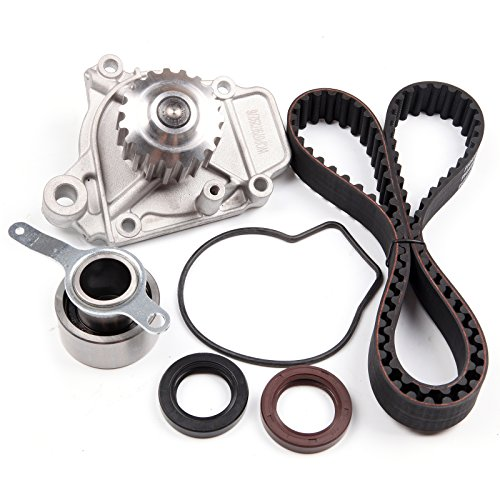 SCITOO Engine Timing Part Belt Set Timing Belt Kits, fit Honda Civic DEL SOL Si EX 1992-1995 Replacement Timing Tools with Water Pump D16Z6 ()