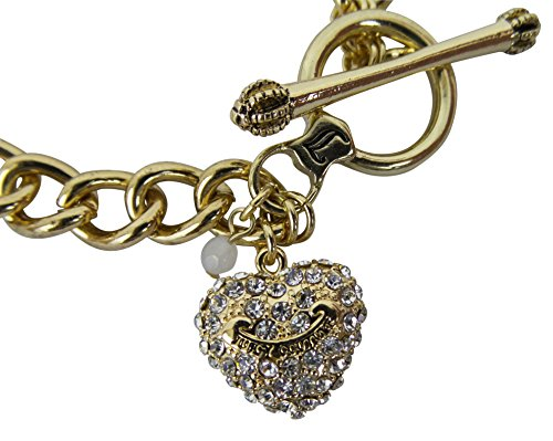 Juicy Couture Starter Heart Charm Toggle Bracelet