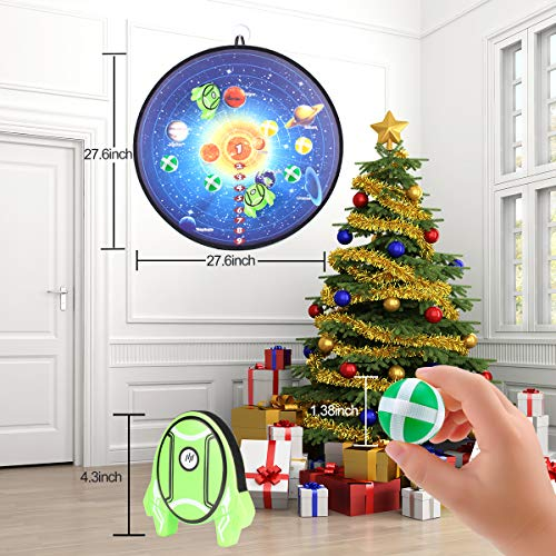 MagicWe Foam Axe Throwing Game Set for Kids and Adult with 2 Foam Axes 6 Hook and Loop Sticky Balls Safe Dart Board Games Toy to Play for Boys and Girls Competition Indoor Outdoor Birthday Party