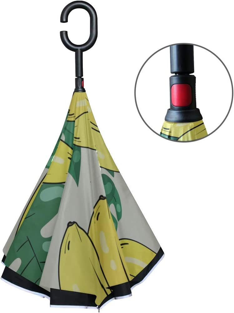 Mizuno Ami Car Reverse Umbrella Windproof And Rainproof Double Folding Inverted Umbrella With C-Shaped Handle UV Protection Inverted Folding Umbrellas