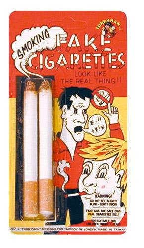 Fake Lit Cigarettes. Ideal for Slash/80s Rocker costume.