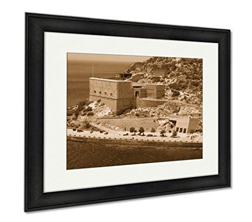 Ashley Framed Prints Christmas Fort Cartagena Spain, Wall Art Home Decoration, Sepia, 30x35 (frame size), Black Frame, AG6519133 by Ashley Framed Prints