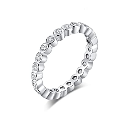 YAZILIND pequeña ronda cubic zirconia anillo moda mujeres compromiso joyería platino plateado anillos de boda tamaño