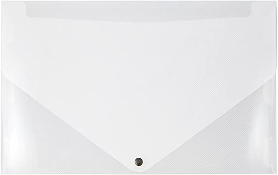 Amazon Com Jam Paper Plastic Portfolio With Snap Closure Large 11 X 17 X 3 4 Clear Sold Individually Paper Stationery Envelope Seals Office Products