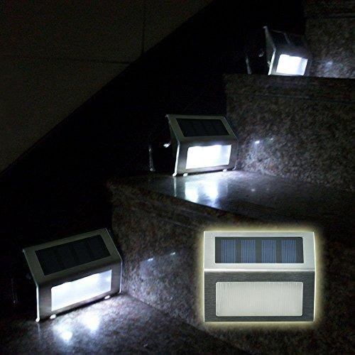 Signstek 6 Pack 2 Led Solar Powered Wireless Stainless