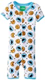 AME Sleepwear Little Boys' Cookie Monster Short Sleeve Footed Blanket Sleeper